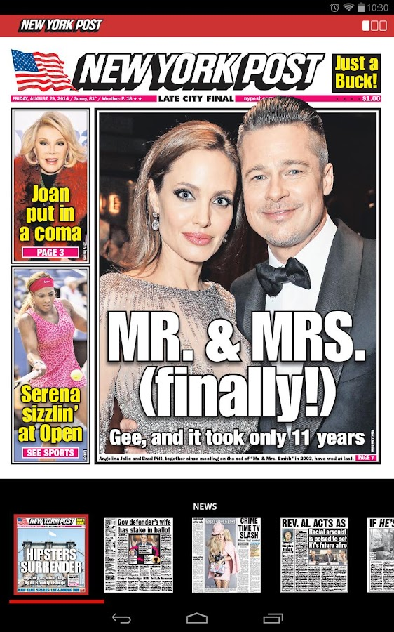 New York Post for Tablet- screenshot