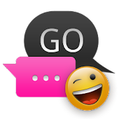 Pink Dark Swift GO SMS Theme