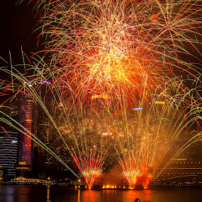 Singapore National Day Fireworks by Jijo George - News & Events World Events ( singapore )
