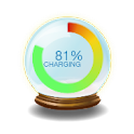 crystal ball battery cycle icon