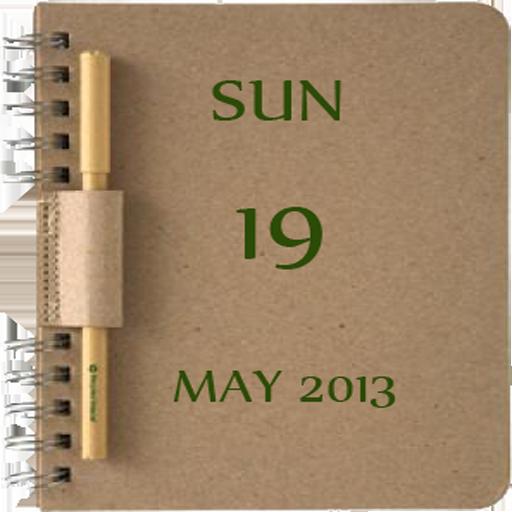 NoteBook Calendar Widget LOGO-APP點子
