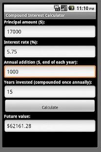 Compound Interest Calculator - screenshot thumbnail