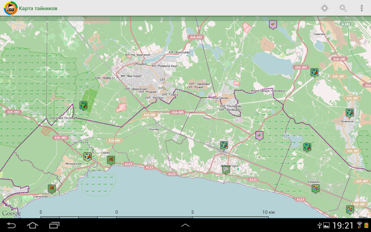 Geocaching.su- screenshot