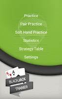 Screenshot of BlackJack Trainer Pro