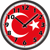 Turkey Flag Analog Clock