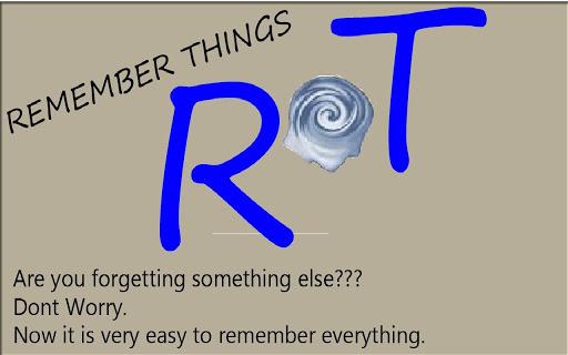 Remember Things