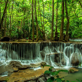 Waterfall Thailand. by John Greene - Landscapes Waterscapes ( nature, waterfall, thailand, huay mae khamin, scenic, natural )