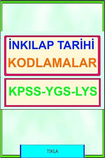 Inkılap Tarihi Kod KPSS YGS