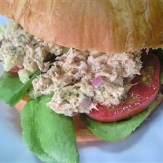 Carrie's Garlic Pesto Tuna Salad Sandwiches