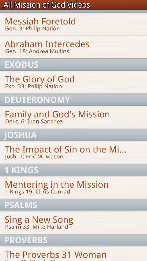 Mission of God Video Player- screenshot