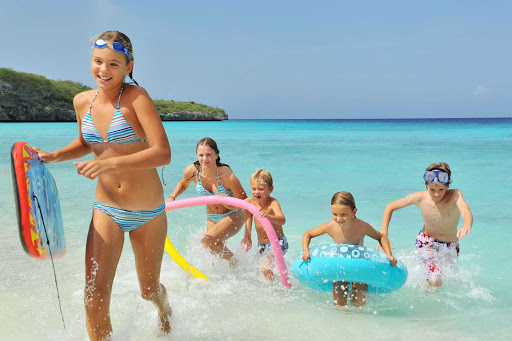 Curacao-beach-kids - With more than three dozen beaches, Curacao is a popular family vacation destination.
