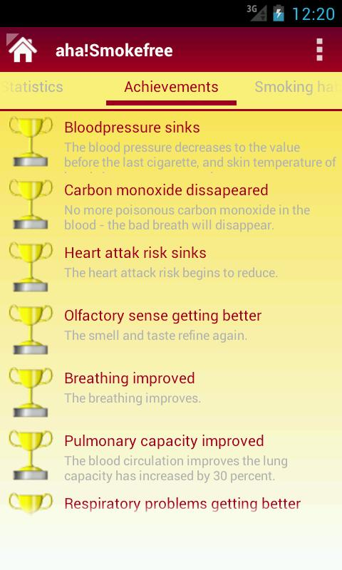aha!Smokefree- screenshot