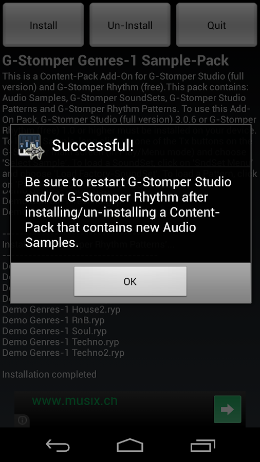 G-Stomper Genres-1 Sample-Pack - screenshot