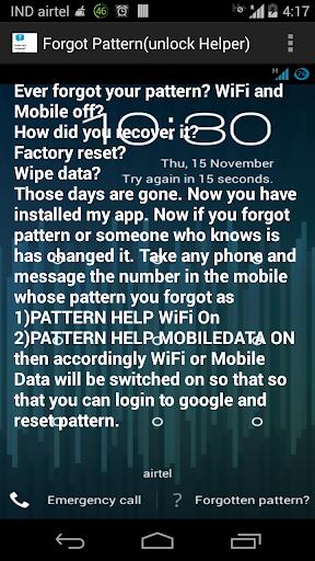 Forgot Pattern - helper