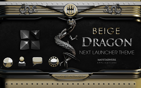 Next Launcher Theme beige drag- screenshot thumbnail