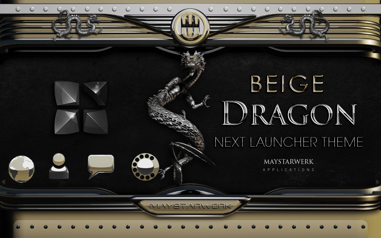 Next Launcher Theme beige drag - screenshot