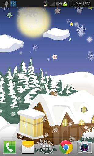 冬天降雪卡通動態桌布 FREE PRO