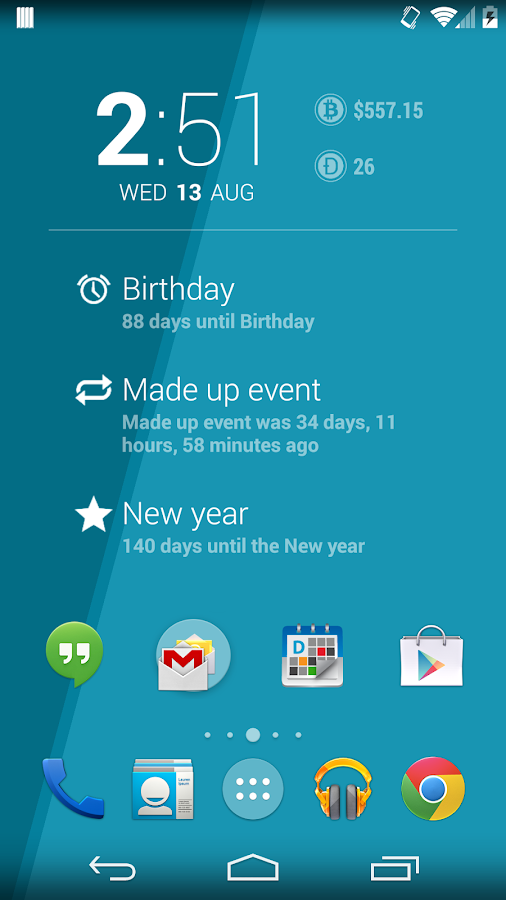 Countdown for DashClock - screenshot