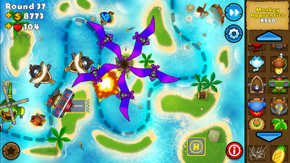 #12. Bloons TD 5 (Android)