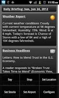 Screenshot of Daily Brief