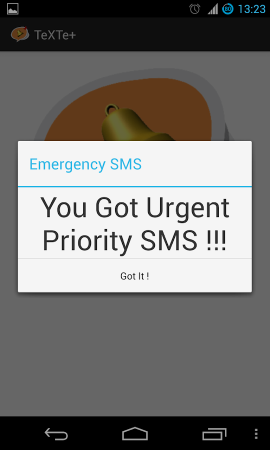 TeXTe - Emergency SMS - screenshot