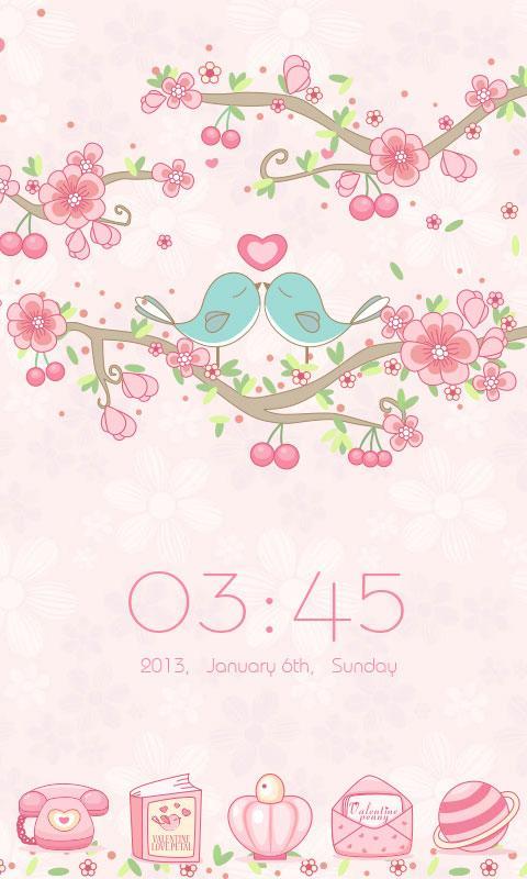 Love Petal GO Launcher Theme