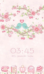 Love Petal GO Launcher Theme