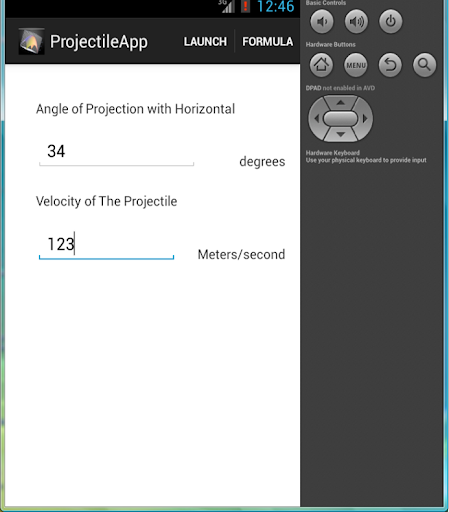 Projectile App- Physics