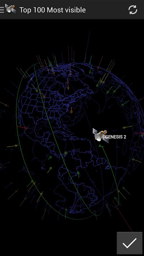 3D Satellite Tracker- screenshot