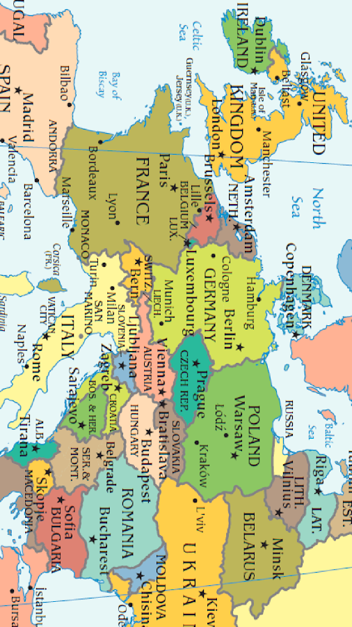 World Map Android Apps On Google Play - World map and their capitals