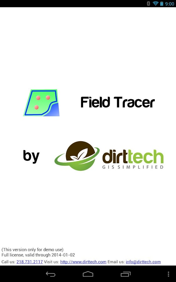 Field Tracer- screenshot