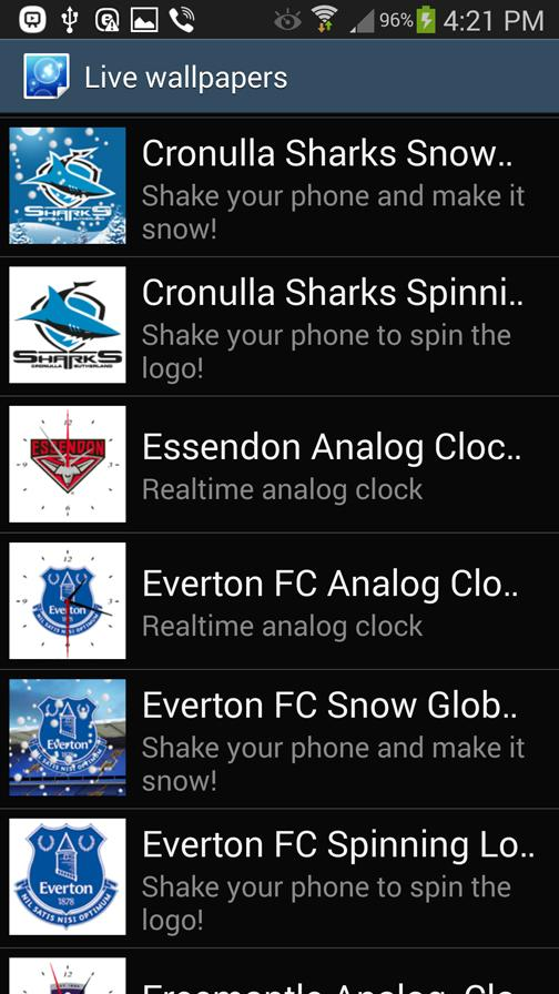 Cronulla Sharks Snow Globe- screenshot