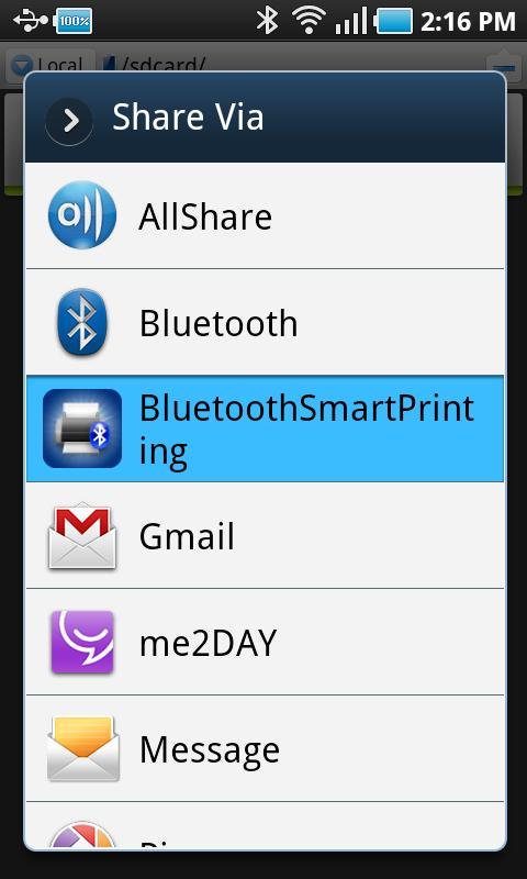 Bluetooth Smart  Printing - screenshot
