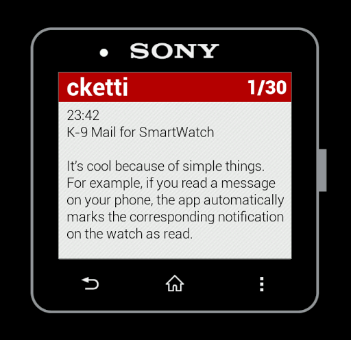 K-9 Mail for SmartWatch