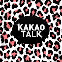 White Pink Leopard Kakao Theme icon