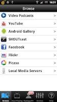 Screenshot of Samsung TV Media Player