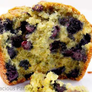 Clean Eating Blueberry Corn Muffins.
