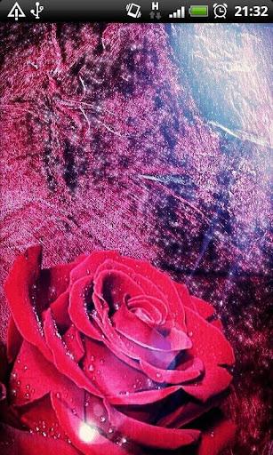 Red Rose Sparkle Live Wallpape