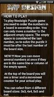 Screenshot of Nostalgic Sliding Puzzle Game