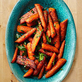 Roasted Carrots with Cumin & Cinnamon.