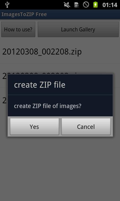 ImagesToZIP Free- screenshot