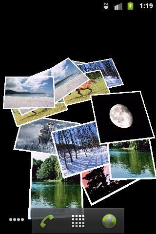Falling Images Live Wallpaper- screenshot