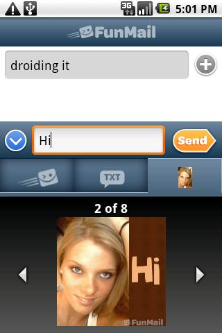 FunMail FREE Picture Messaging - screenshot