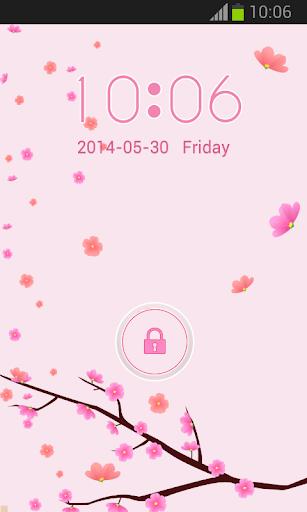 粉紅色的花朵GO鎖屏
