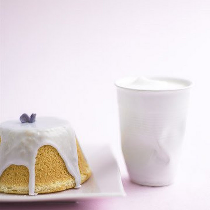 Chiffon Cakes with Violet Dipping Icing Recipe