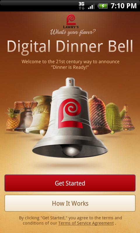 Lawry's Digital Dinner Bell - screenshot