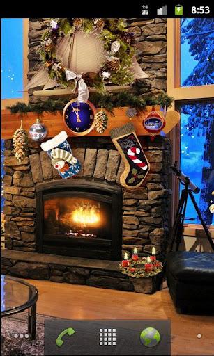 クリスマス暖炉LWP無料
