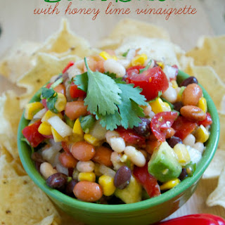 Bean Salsa with Honey Lime Vinaigrette