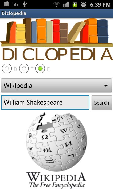 Diclopedia- screenshot