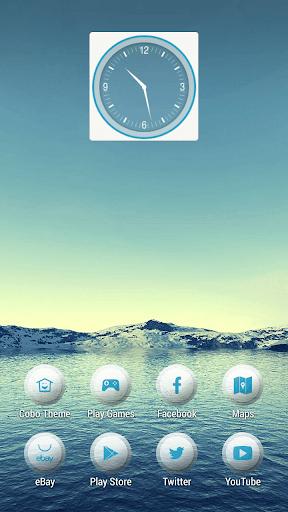 藍天平靜雪湖主題